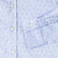 Paul Smith Junior Boys' Blue Zebra-Jacquard 'Murphy' Shirt