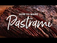 Chef Tom shows you how to make his homemade pastrami recipe. This recipe hits the right balance of brine, rub and smoke flavor. Get the recipe! Pastrami Brine Recipe, Homemade Pastrami, Homemade Smoker, How To Make Pastrami, Making Pastrami, Ground Venison Recipes, Smoked Meat Recipes, Smoked Pork, Rib Recipes