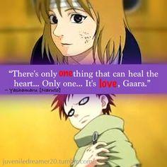 Naruto Quotes On Love Gaara, Sarada Uchiha, Naruto Shippuden, Boruto, Naruto Quotes, Sad Anime Quotes, Manga Quotes, Quotes Quotes, Anime Naruto
