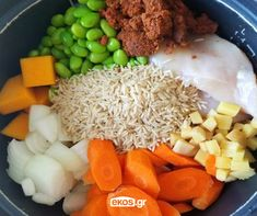Edamame, Rice Cooker, Brown Rice, Cobb Salad, Squash, Onion, Carrots, Curry, Cheese