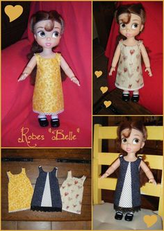 Animator Doll Dress pattern (.jpg) plus tutorial (French)...translate via Google or other internet translator.