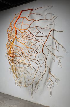 Sun Hyuk Kim, The Way to Happiness II (root sculpture) Instalation Art, Traditional Ink, Art En Ligne, Art Sculpture, Land Art, Wire Art, Art Plastique, Oeuvre D'art, Les Oeuvres