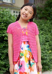 Caron International | Free Project | School Photo Day Coverup #crochet