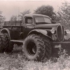 rat rod lifted ford mud truck