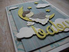 ♥ Kartka gratulacje narodziny dziecka rękodzieło♥ - Projectgallias - Kartki z okazji narodzin
