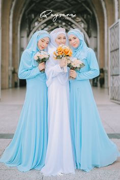 Muslimah Wedding Dress, Muslim Brides, Modest Bridesmaid Dresses, Pakistani Wedding Dresses, Muslim Couples, Bridesmaids, Bridal Hijab, Hijab Bride, Wedding Hijab