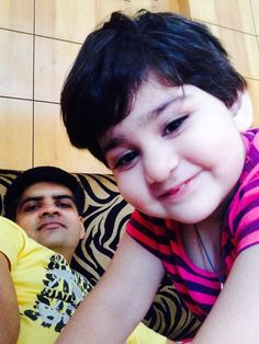 Selfie time with Papa