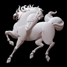 Amazing work,INCREDIBLE Mastery in paper.  YEAR OF THE HORSE - 2014. By paper master artist Jeff Nishinaka.
