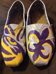 LSU Tailgating Shoes (TOMS).
