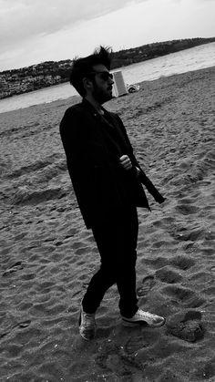 #sea #black #puma #beach #man #manfashion #sunglasses #guy #autumn #istanbul