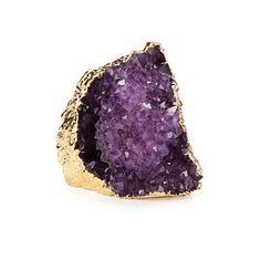 Gilded Amethyst Paperweight   geode rocks, quartz crystal, rough gemstones   UncommonGoods