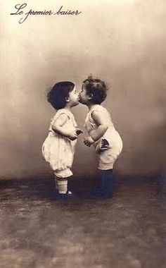 The first kiss. Love.