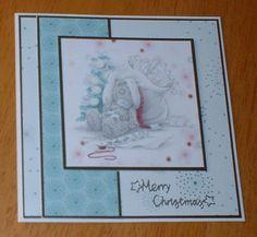 Tatty Teddy Christmas Cards! Homemade Christmas Cards, Handmade Christmas, Christmas Crafts, Tatty Teddy, Teddy Bear, Beren, Craft Cards, Birdhouses, Xmas Cards