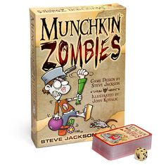 Munchkin Zombies Game para passar o tempo durante o fim do mundo (EMP safe) Zombies, Holiday Party Games, Halloween Party, Stuff And Thangs, Family Game Night, Tabletop Games, Fun Games, Game Design, End Of The World