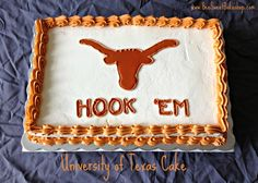 University of Texas graduation cake from Bee Sweet Bakeshop