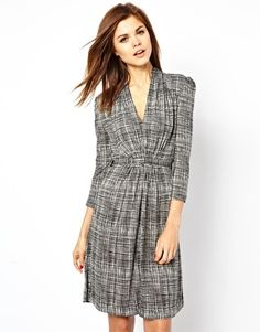 Image 1 of French Connection Print V Neck Dress