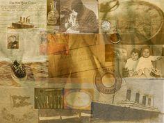 Titanic rememberd digital collage.