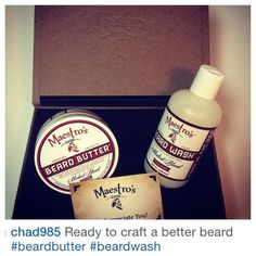 Maestro's Classic Salutes @chad985 for choosing our Modest Blendset in a BlendBox for Crafting a Better Beard