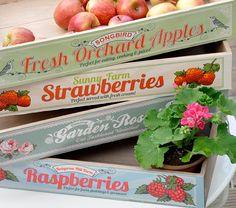 Raspberries Wooden Produce Tray | DotComGiftShop