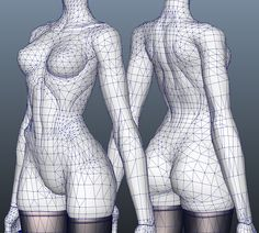 topology of the body is like this. Female Reference, Figure Drawing Reference, Anatomy Reference, 3d Model Character, Character Modeling, Character Design, 3d Modeling, Zbrush, Body Tutorial