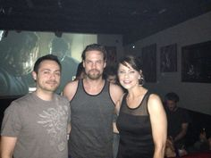 """With Shane West at the """"Salem"""" viewing party"""