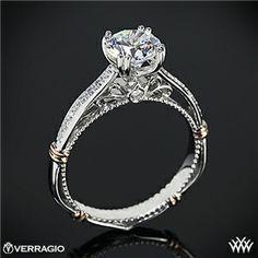 Verragio Shared-Prong Split Claw Diamond Engagement Ring
