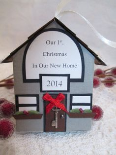 First Christmas in New Home Our Home by TheMemoryKeeperShop 1st Christmas, Christmas Ornaments, Christmas Inspiration, Wonderful Time, Book Design, Home Crafts, Winter Wonderland, Diy Gifts, Card Stock