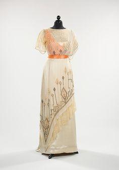 Evening Dress: 1911-13, American, silk.