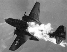U.S. Day bomber Flak hit over Europe. The English flew exclusively by night instead trading off; yet another example of how America shouldered the brunt of a war started by the English, (not the Germans) and won by the bravery and industrial might of the U.S.