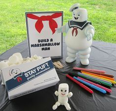 Ghostbusters birthday party games - Build a marshmallow man.