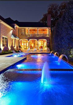 Luxury Spanish style home, backyard retreat complete with waterfalls....