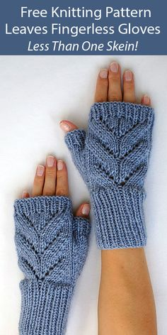 One Skein Fingerless Mitts Knitting Patterns - In the Loop Knitting Knitted Mittens Pattern, Knit Mittens, Baby Knitting Patterns, Knitting Stitches, Knitted Owl, Knit Headband Pattern, Knitted Scarves, Free Knitting, Fingerless Gloves Knitted