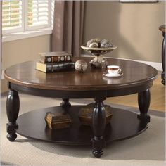 Riverside Delcastle Round Cocktail Table in Aged Black - 41204 - Lowest price online on all Riverside Delcastle Round Cocktail Table in Aged Black - 41204