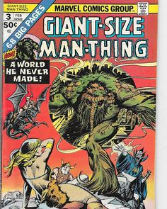 Get your hands on our Giant-Size Man-Thing. We've got one for you to bid on right now in our Ebay store.  #ManThing #comics4sale #comics #comicsforsale #Marvel #comicart #ebay