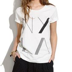 Madewell NY LA tee Madewell NY LA white tee shirt. In perfect condition! NYLA Art Deco tee Madewell Tops Tees - Short Sleeve