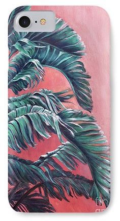 e33407677f Home Decor IPhone 7 Case featuring the painting Palm Leaves by Alla Gorelik  Computer Accessories