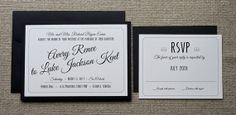Hollywood Glam Wedding Invites by JankunCreativeStudio on Etsy