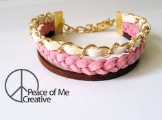 Unique Pink and Chocolate Layered Bracelet