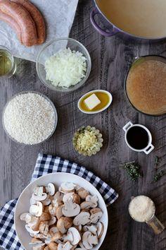 Sausage and Mushroom Risotto   http://joythebaker.com/2015/01/sausage-mushroom-risotto/