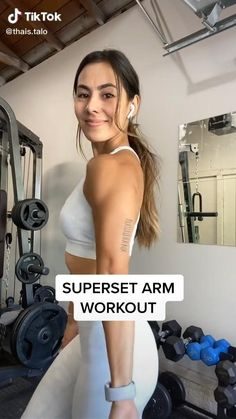 Tricep And Shoulder Workout, Tricep Workout Women, Barbell Workout For Women, Arm Day Workout, Bicep And Tricep Workout, Gym Workout Videos, Gym Workout For Beginners, Fitness Workout For Women, Butt Workout