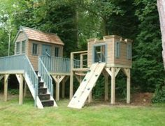 Playhouse with lookout tower