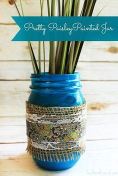 paisley-painted-mason-jar
