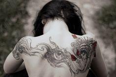 amazing tattoo, back tattoo, body modifcation, body modifications, body mods