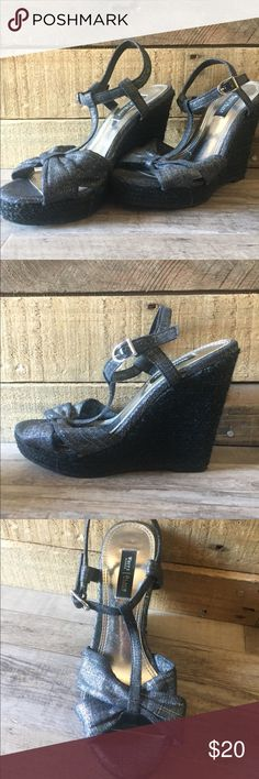 4416801fe3b75f Cleaning out closet. Very lightly worn White House Black Market wedges  White House Black Market