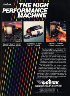 GCE Vectrex Arcade System, vector game device ad
