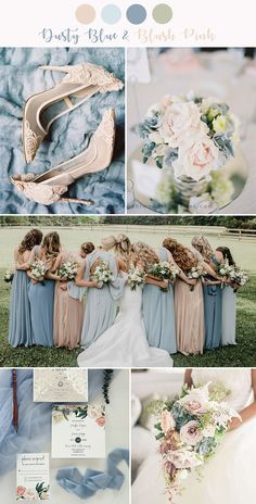 stunning dusty blue and blush pink wedding colors