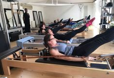 I was delighted to be back at my Pilates seminar in person last weekend - as you can see- instead of the online ones! We were shaking…. But happy 😃! 👏