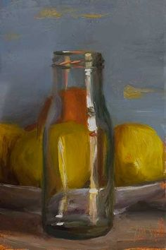 daily painting titled Jar and lemons - click for enlargement