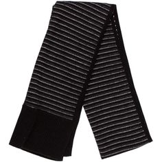Pre-owned Rag & Bone Striped Knit Scarf (280 BRL) ❤ liked on Polyvore featuring accessories, scarves, black, striped shawl, striped scarves, knit shawl, colorful shawl and multi colored scarves