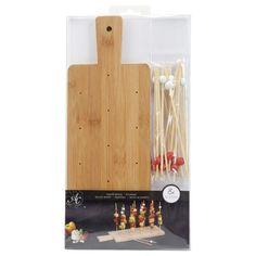 ac serveerplank met prikkers bamboe